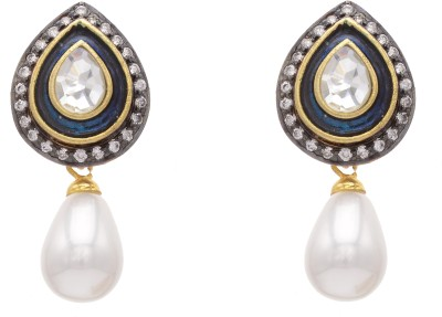 Pearls Cart Alloy Drop Earring