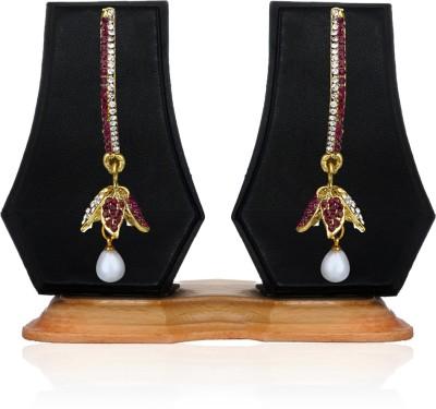 Zaveri Pearls Ravishing With Pearl Zinc Drop Earring
