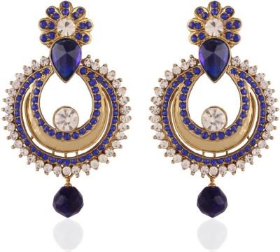 I Jewels Chand Shaped Alloy Chandbali Earring