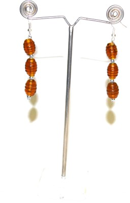 Deal And Gift Three Bead Resin Dangle Earring