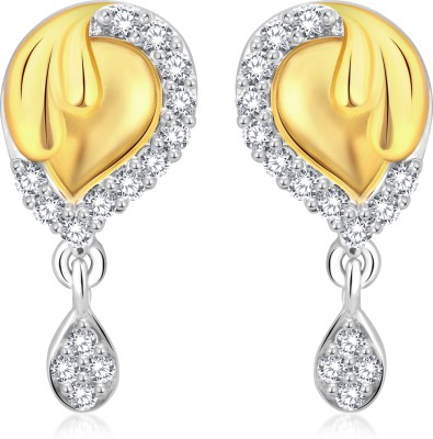 Classic Goregous Gold And Rhodium Plated Earrings for Women [CJ1022ERG] Cubic Zirconia Alloy Drop Earring