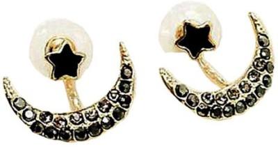 Ruvee Chandbali New Moon Alloy Stud Earring