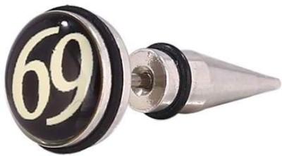 Little Goa 69 Design Ear Taper Body Piercing - 25 mm Metal Stud Earring