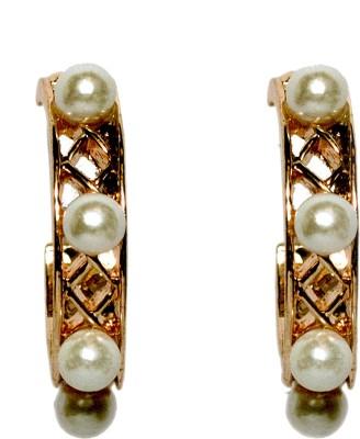 Sparkling Trinkets Gold Alloy Hoop Earring