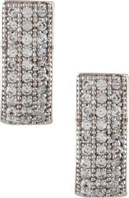 Fashionaya The J Cubic Zirconia Alloy Stud Earring