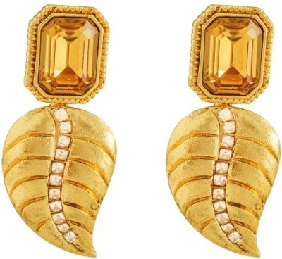 Art Nouveau Beautiful Traditional Brass Stud Earring