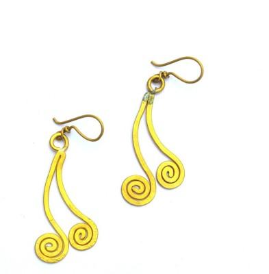 Art Godaam Dhokra Tribal Brass Dangle Earring