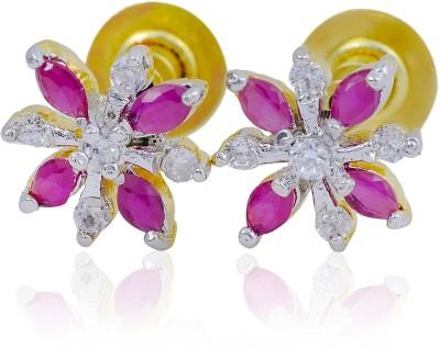 Tiara Gems Style Diva Alloy Stud Earring