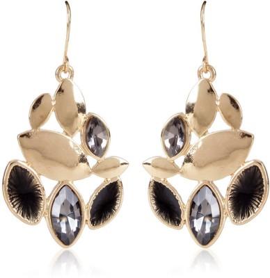 Trendy Baubles YAER2594 Crystal Metal, Crystal Dangle Earring