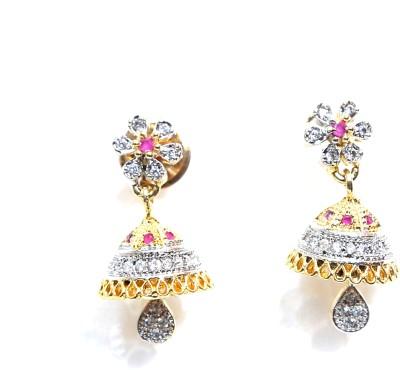 Taj Jewels Ruby Mix Copper Jhumki Earring