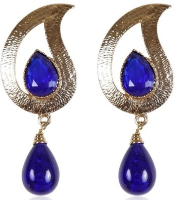 Rajwada Arts Stylish Sapphire Brass Drop Earring