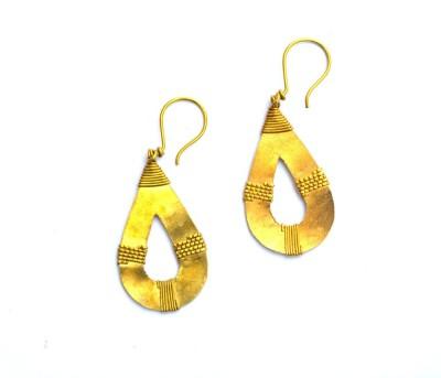 Art Godaam Dhokra Tribal 0015 Brass Dangle Earring