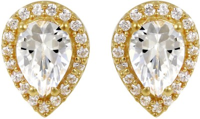 Exxotic Jewelz Designer Sparkle Crystal Sterling Silver Stud Earring