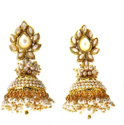 Aabhushan Pearl Alloy Jhumki Earring