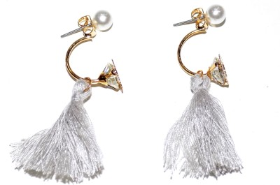 Jewels Kafe Feather Alloy Tassel Earring