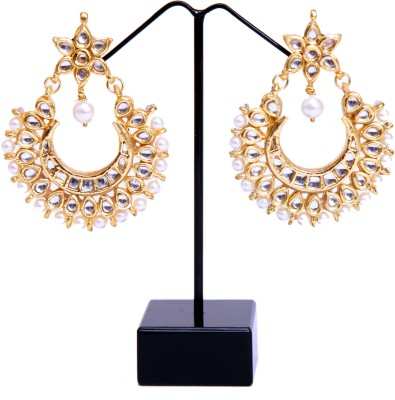 Aadhya Jewels Antique Alloy Chandbali Earring