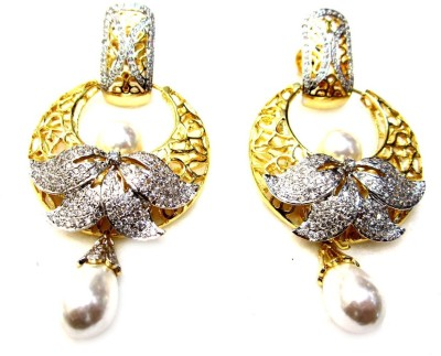 Poddar Jewels Designer Cubic Zirconia Alloy Chandbali Earring