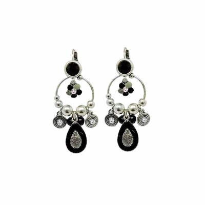Sanaa Creations CLASSIC BLACK COLOR OXIDIZED FOR WOMEN,S Alloy Clip-on Earring