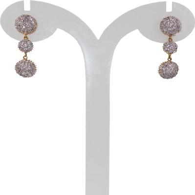 Anjan Engaging Designer Cubic Zirconia Brass Drop Earring