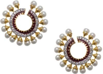Sheetal Jewellery JCHER73_main Cubic Zirconia Brass, Alloy Stud Earring