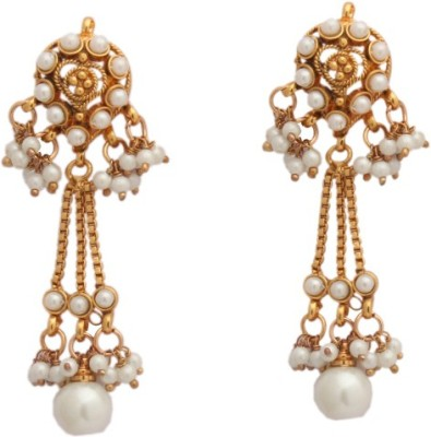 Reva Spring Sparkle Alloy, Metal Chandelier Earring