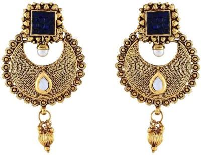 Jewlot Engaging Kundan 1073 Metal Chandbali Earring