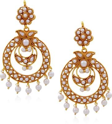 Hyderabad Jewels Beautiful Hangings Pearl Copper Chandbali Earring