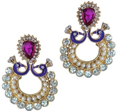 Grand Jewels Mahi12 Emerald Alloy, Brass Chandbali Earring