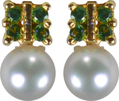 Pearl Paradise Designer Collection - (Z). Pearl, Swarovski Crystal Alloy Stud Earring