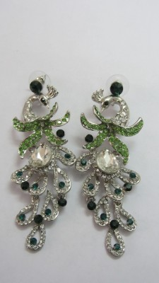 B R Creation Peacock Design Brass Chandbali Earring