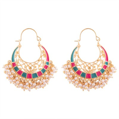 Kshitij Jewels Ethnic Alloy Chandbali Earring