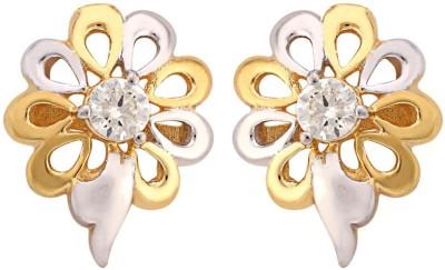 The gems Gallery Moissani-Earring-002 Moissanite Sterling Silver Stud Earring