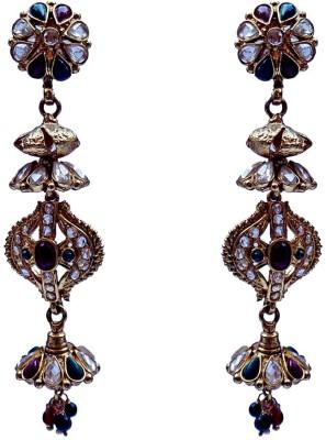 Kundaan Indian Style Crystal Copper, Brass Chandelier Earring