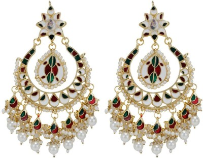 Sale Funda Designer er0029 Pearl, Crystal Alloy Chandelier Earring