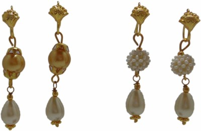 Sharun Collections Pearl Sparkle Two Sets Alloy Earring Set