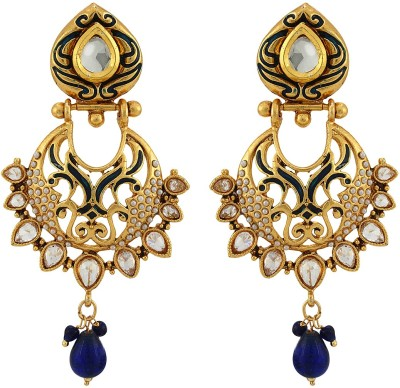 Asmara Graceful Kundan And Pearl Encrusted Alloy Drop Earring
