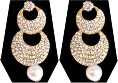 Triumphin Circle Crystal Zinc Drop Earring