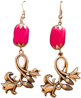 Ba No Batwo Tulip Cotton Dori Dangle Earring