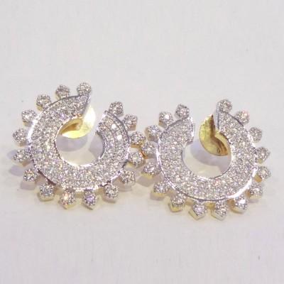Kaveri Jewellery Spring Circle Alloy Stud Earring