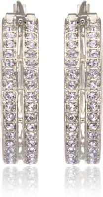 Eclat 1213378R Swarovski Crystal Alloy, Brass Hoop Earring