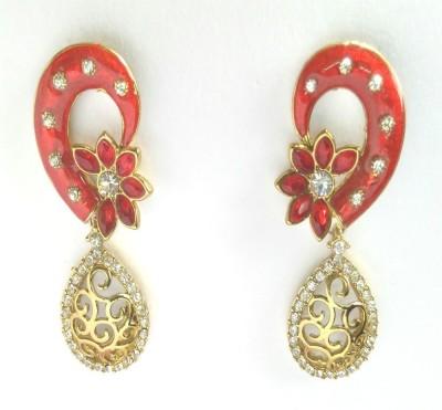 Fashion Pitaraa Golden Sparkle Copper Drop Earring
