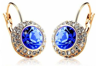 ArietteJewels Nature Earrings - Blue-Gold Copper Hoop Earring