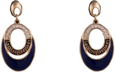 R18Jewels-Fashion&U Royal Blue & Gold Metal, Enamel Dangle Earring
