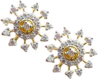 E-Designs TOP76GJ102-420 Brass Stud Earring