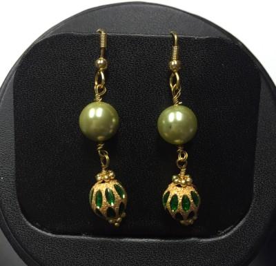 Kanishk Creations Designer Danglers Pearl Alloy Dangle Earring