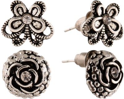 Anokhi Ada Rose and Butterfly Metal Stud Earring