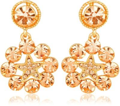 Moedbuille Golden Drop Earrings [MBER00384] Cubic Zirconia Alloy Drop Earring