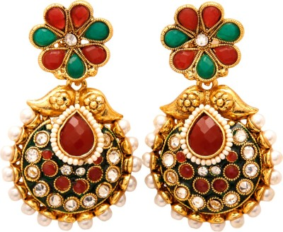 Jewel House Festive Bling Copper Drop Earring