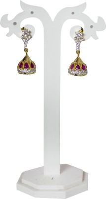 Jewelgrab Sai Ad Ruby Alloy Jhumki Earring