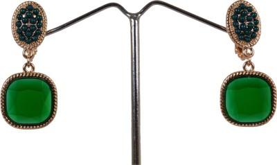 Angelfish fashion designer rhinestone green clip Coral Alloy Drop Earring